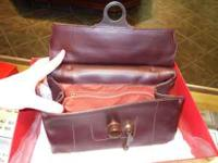 This is a genuine Italian Leather handbag made in