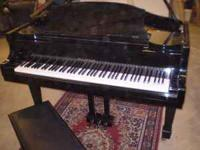 "Samick 5' 2"" baby grand piano and bench in polished"