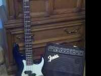 I have a Samick electric bass guitar and a fender amp