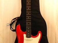 This listing is for a Samick Red Strat Style Electric