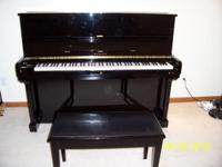 Description 94 SAMICK Upright piano with bench (Model: