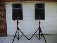 Samson DB500A active speakers (2), fantastic for drum