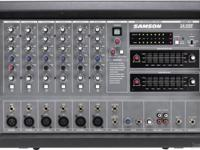 The Samson XM610 600 Watt 6 Channel Powered Mixer gives