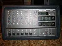 here i have a very nice six channel pa powered mixer,