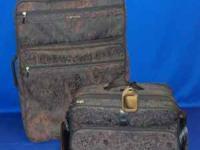 Two-piece set of Samsonite Silhouette 5 luggage. Sturdy
