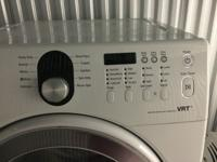 Samsung front loading washing machine. Washes great,