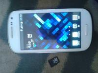 Samsung galaxy exhibit white for sale with 16gb sd card