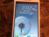 White Samsung Galaxy Prevail II from boost mobile it's