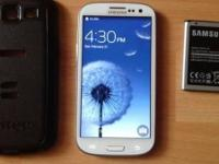selling my white used Samsung s3 Verizon with extra