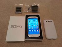 This is a Samsung Galaxy S3 Verizon Unlocked White 4G