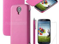 Brand new in package Pink slim leather flip hard Case