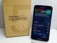 BRAND NEW SAMSUNG GALAXY S5 IN BOX AND COMES WITH