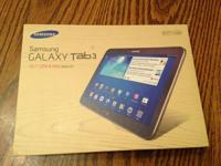 "Offering a Brand New Samsung 10.1"" Galaxy Tab 3.  This"