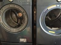 Front load washer and dryer. Both units need repair but