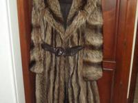 Samuel Ringler Furs of New York Brown Coat with Leather