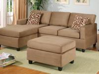 New Microfiber Sectional for only $499.99! Chaise