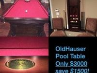 this OldHauser pool table is less than a year and a