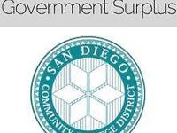 SAN DIEGO COMMUNITY COLLEGE WAREHOUSE SURPLUS ABOUT: