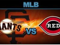 San Francisco Giants vs Cincinnati Reds - 3 Tickets for