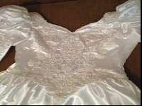 San Martin Wedding Dress and Veil. Size 8. Questions,