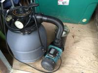 This is a Hayward VL series pool pump and sand filter.
