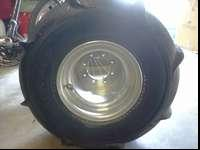 these sand tires are in great share and will fit on a