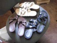 WOMENS SANDALS, SIZE 10. HARDLY WORN. BRAND--{BARE