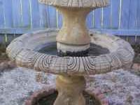 Two tiered fountain purchased at Sandstone Gardens.