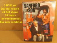 A 3 DVD set of Sanford & Son second full season, 24