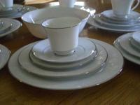 I have a Sango Serenade Light Blue china set for sale.