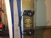 I have a santa cruz snow board and some blue burton