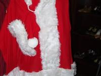 Selling a couple of Santa suits for only $35.00, comes