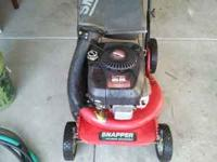 SNAPPER MOWER FOR SALE. I HAVE 2 EXTRA BLADES, AND A