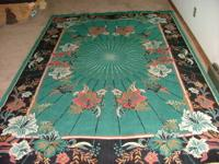 Wool on Wool double knot Turkish carpet, made by the