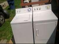 General electric set dryer little newer washer new pump