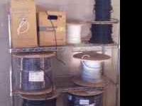 1523A 010 Black Satellite Wiring 1000 ft new spools