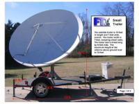 Satellite Communications Trailer Small tow trailer