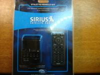 Sirius Stiletto 10 Satellite Radio with car adapter