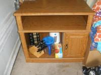 nice piece of furniture to put TV on or microwave. has