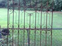 This is a beautiful wrought iron gate bought at an