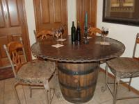 One of a kind authentic table made of genuine saw blade
