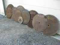 Many different sizes of saw blades. Will sell