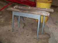 SAW HORSESWOOD TOPS METAL LEGS OR PLASTIC LIGHT