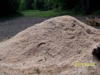Woodshavings from firewood processor for sale great for