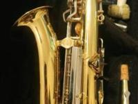 Yamaha Yas-23 saxaphone is in excellent condition.