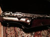 C Melody Saxophone by Buescher Musical instrument Firm,