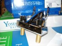 Sayco chrome plated kitchen faucet-less sprayer,ceramic