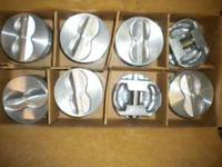here is a set of new flat top hypereutectic pistons for