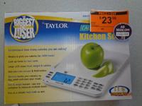 THE BIGGEST LOSER BY TAYLOR CAL-MAX KITCHEN SCALE 11 LB
