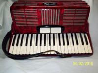 Circa 1960, 3/4 student accordion, red pearl, 2